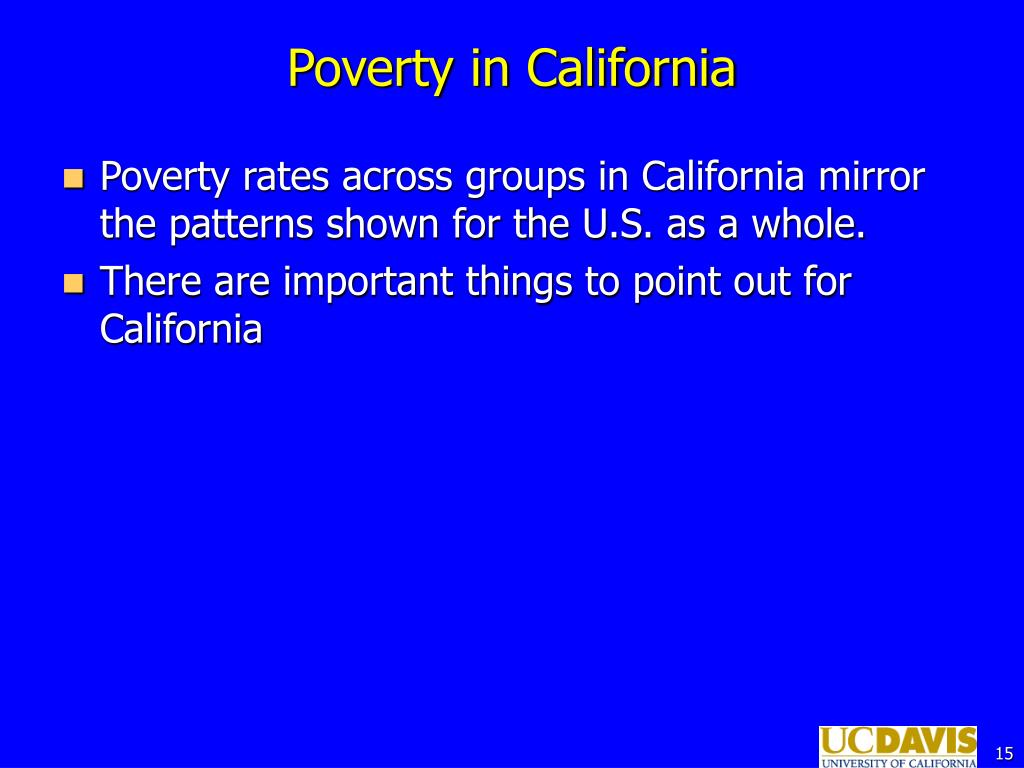 Poverty in California