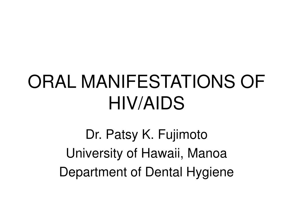 oral manifestations of hiv aids