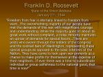 franklin d roosevelt state of the union address january 11 th 1944