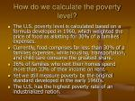 how do we calculate the poverty level