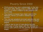 poverty since 2000