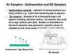 air samplers sedimentation and slit samplers
