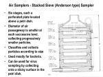 air samplers stacked sieve anderson type sampler