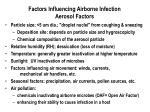 factors influencing airborne infection aerosol factors