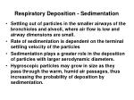 respiratory deposition sedimentation