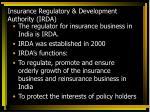 insurance regulatory development authority irda