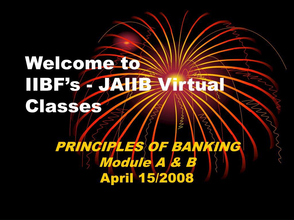 welcome to iibf s jaiib virtual classes l.