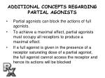 additional concepts regarding partial agonists
