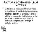 factors governing drug action11