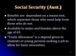 social security aust