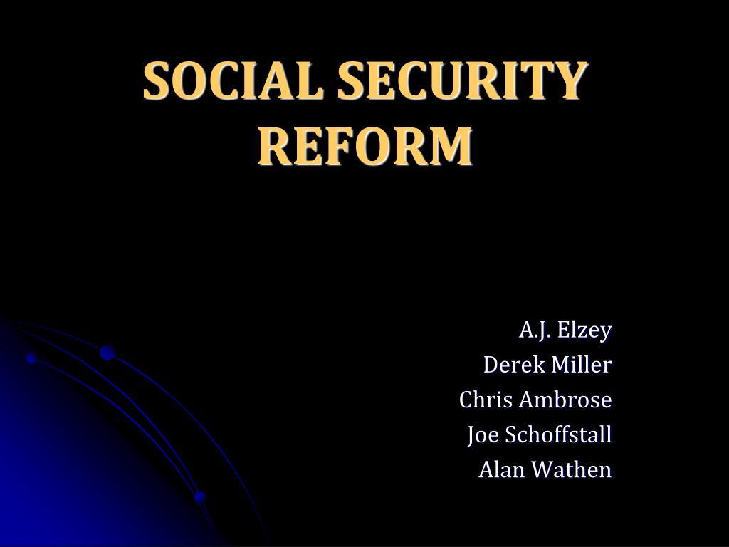 social security reform l.