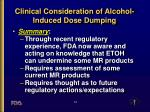 clinical consideration of alcohol induced dose dumping12