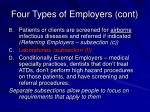 four types of employers cont