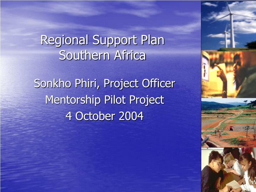 Regional Support Plan