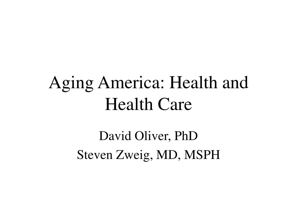 aging america health and health care l.
