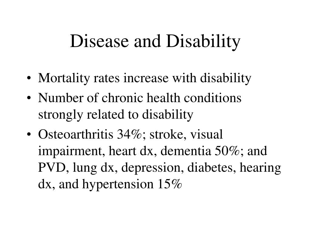 Disease and Disability