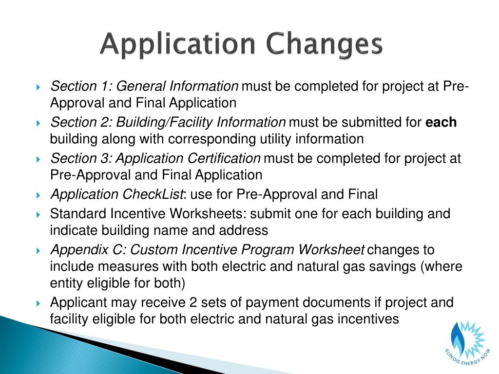 Application Changes