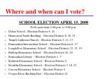 where and when can i vote