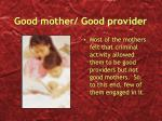 good mother good provider