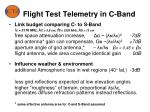flight test telemetry in c band
