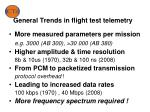 general trends in flight test telemetry