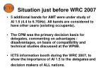 situation just before wrc 2007