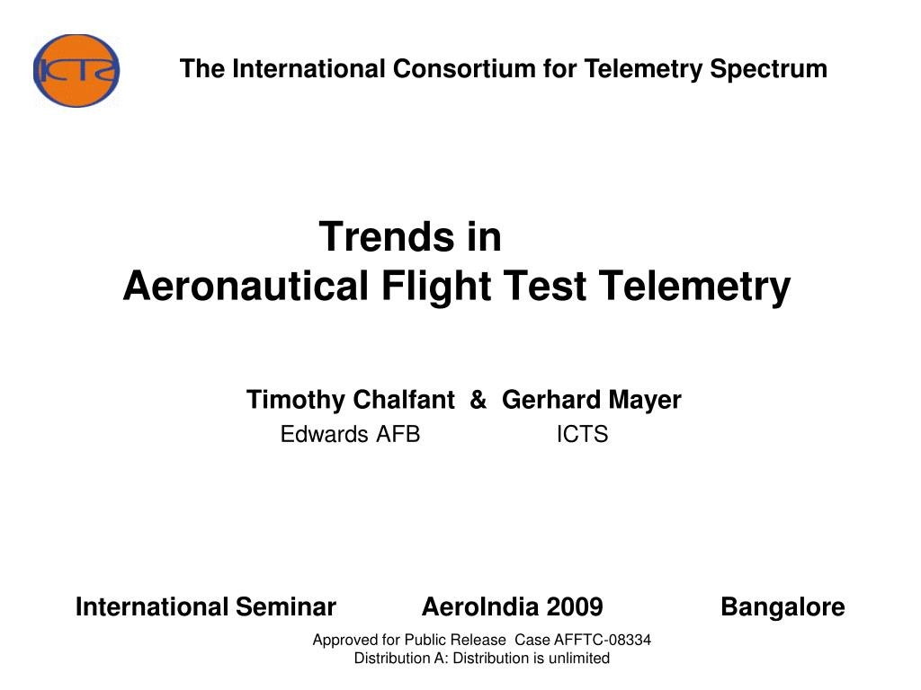 trends in aeronautical flight test telemetry l.