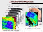 aot retrieval from modis data