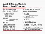 aged disabled federal poverty level program