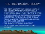 the free radical theory