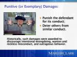 punitive or exemplary damages