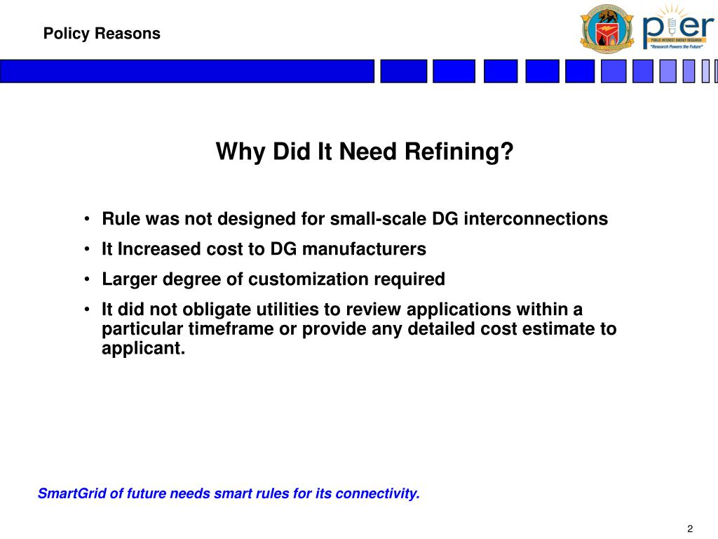 Why Did It Need Refining?
