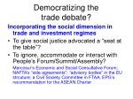 democratizing the trade debate