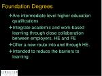 foundation degrees