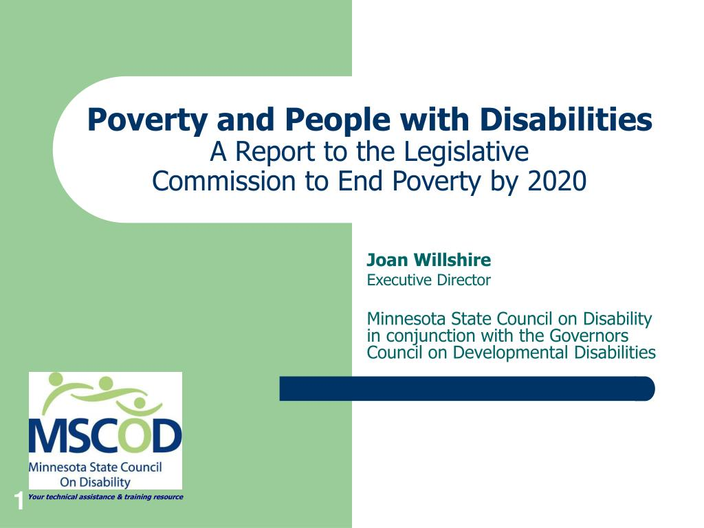 poverty and people with disabilities a report to the legislative commission to end poverty by 2020 l.