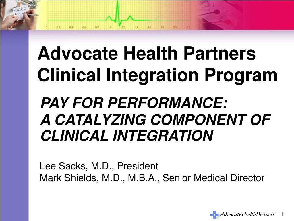advocate health partners clinical integration program l.