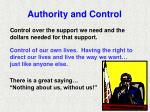 authority and control