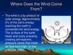 where does the wind come from