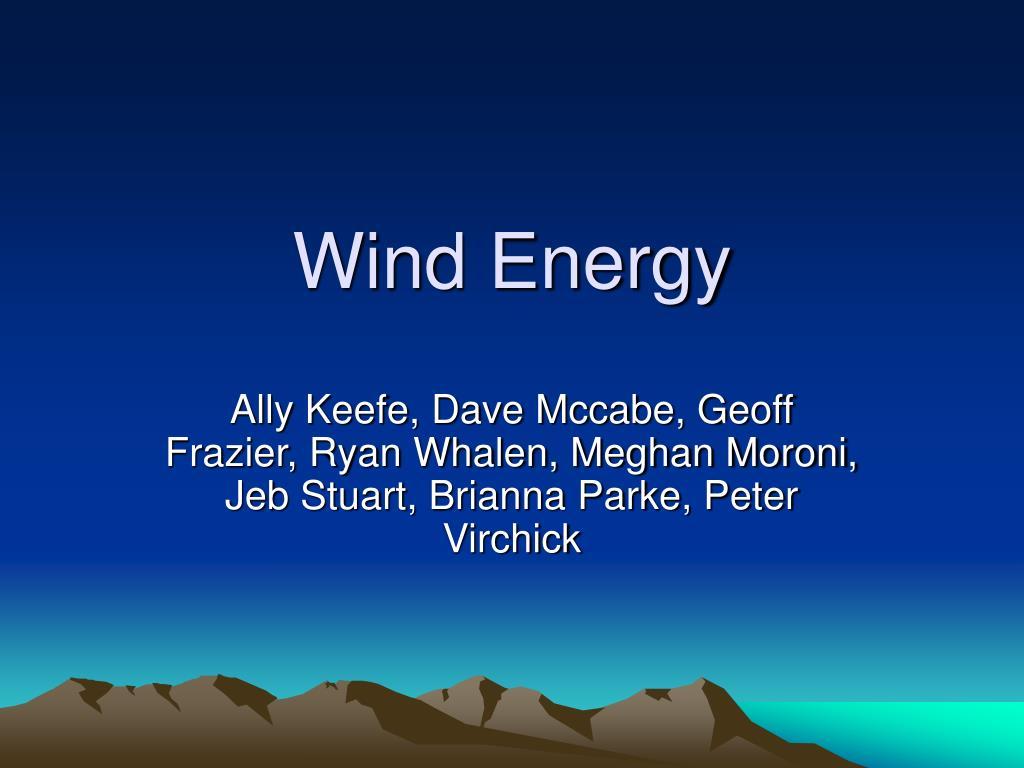 wind energy l.