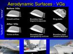 aerodynamic surfaces vgs