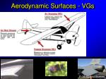 aerodynamic surfaces vgs23