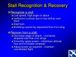 stall recognition recovery