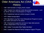 older americans act oaa history