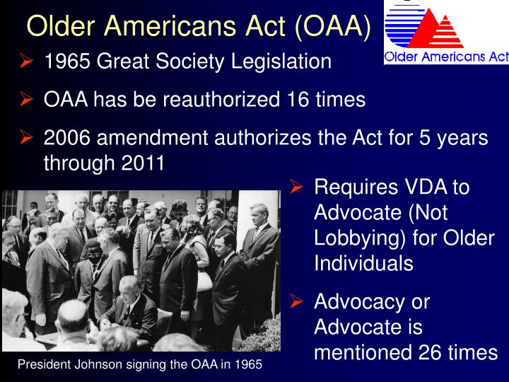 Older americans act oaa