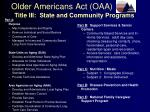 older americans act oaa6