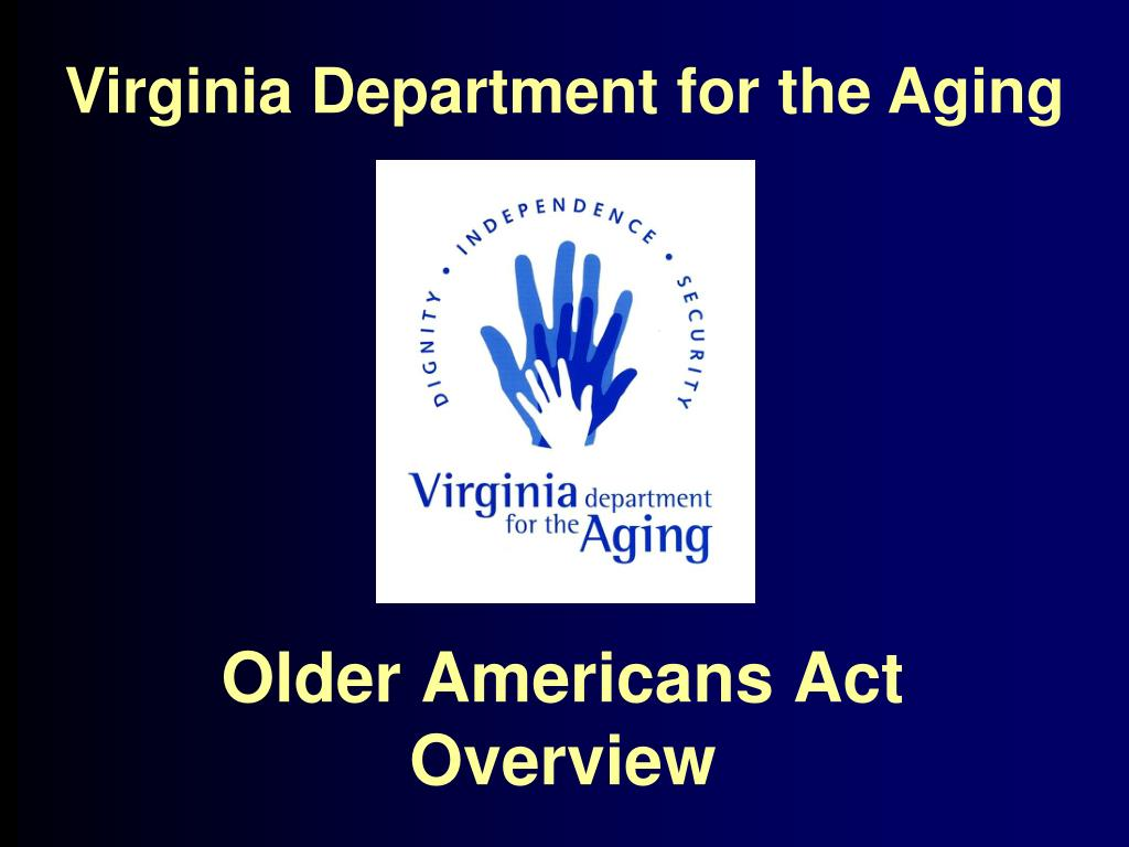 older americans act overview l.