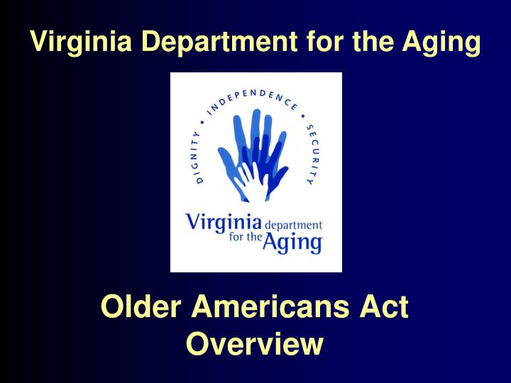 the first aging americans act essay