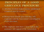 principles of a good grievance procedure