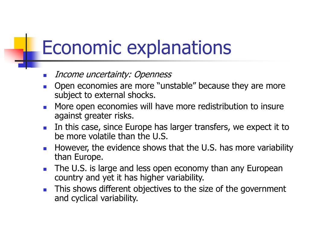 Economic explanations