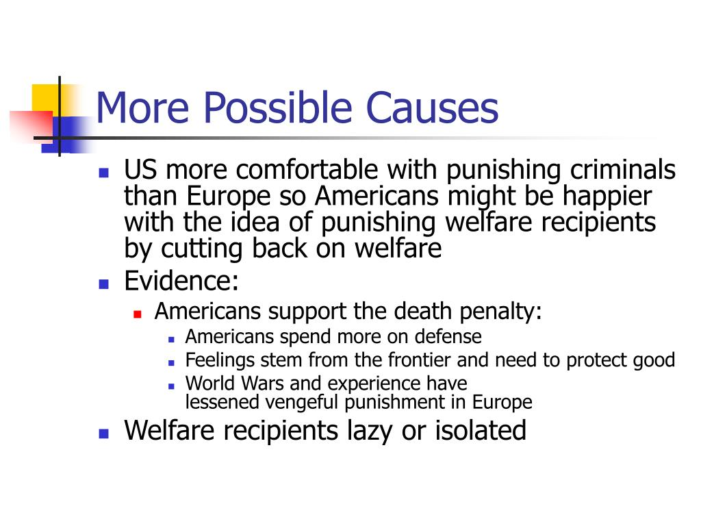 More Possible Causes